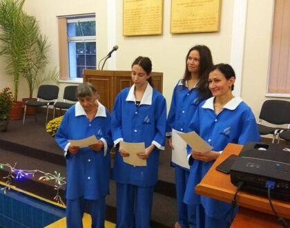Бог привел в церковь в Харькове четыре дорогие души